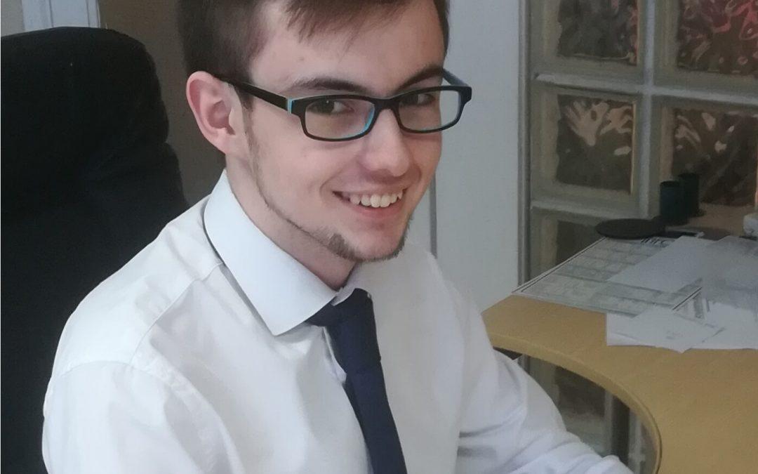 Callum Rigby passes Exam